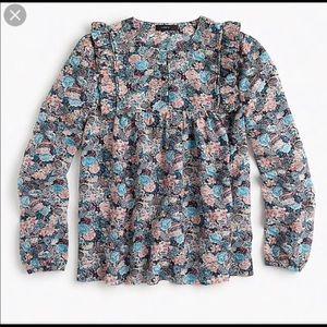 🌼Blouse Sale🌼 Ruffle Front Paisley Floral Blouse